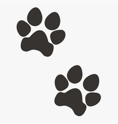 black paw prints vector image