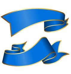 Blue ribbon vector image vector image