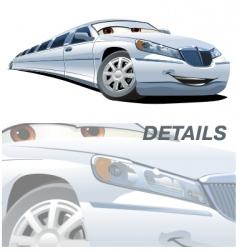 cartoon limousine vector image vector image
