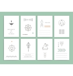 Collection of Templates vector image vector image
