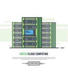 Green cloud servers vector
