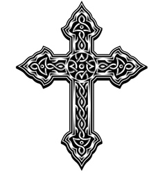 ornate christian cross vector image vector image