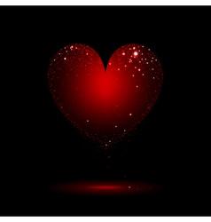 sparkling heart vector image