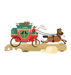 stagecoach design flat vector image vector image