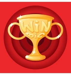 Win Cup Symbol Icon Concept Stylish Background vector image vector image