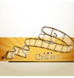 cinema banner vector image vector image