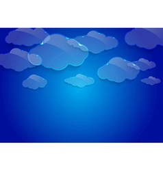 Dream glass clouds background vector image vector image