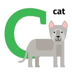 English animals zoo alphabet letter C vector image vector image