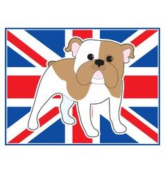 English Bulldog Flag vector image vector image