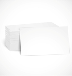 Pile of business cards with shadow template vector image vector image