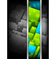 background with cubes colorful illustration vector image