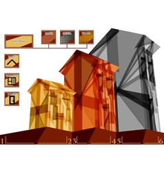 Building infographic vector image vector image