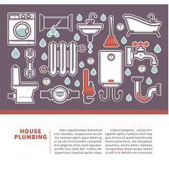house plumbing web banner for promotion repair vector image