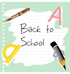 school stationery vector image vector image