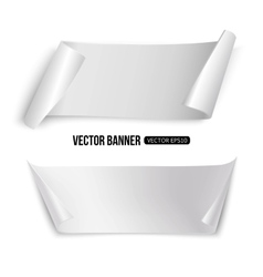 White paper banners isolated template for vector image
