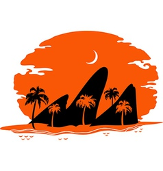 Abstract Landscape of Tropical Beach vector image