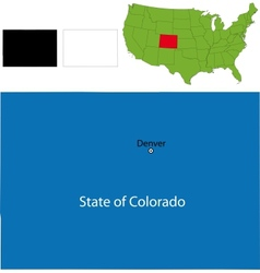 Colorado map vector image