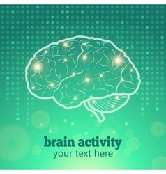 Human brain activity vector image