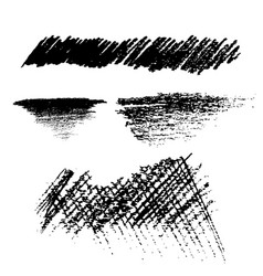 pencil black brush texture style vector image