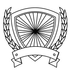 shield frame icon vector image vector image