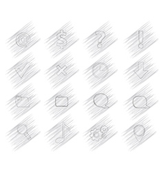 16 shaded icons vector