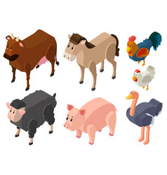 3d design for farm animals vector image