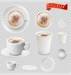 3d realistic mocha coffee vector image