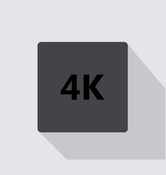 4k icon vector image