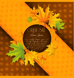 abstract colorful autumn sale template vector image