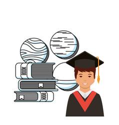 Academic graduation design vector