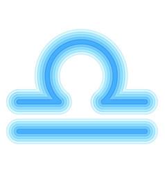 astrological symbol of libra paper cut vector image