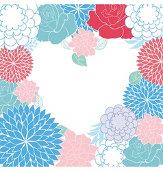Background rose heart card vector