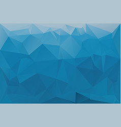 Blue abstract geometric background with triangles vector