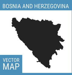 bosnia and herzegovina map with title vector image