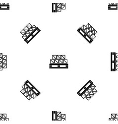 boxes goods pattern seamless black vector image
