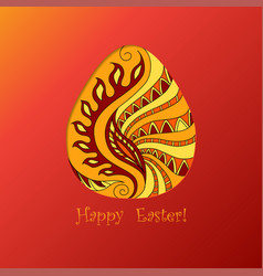 card of easter with graphic egg vector image