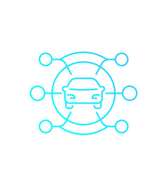 carsharing service icon linear with gradient vector image