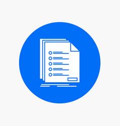 Check filing list listing registration white vector