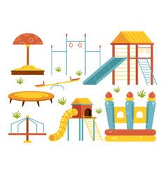 children playground isolated design element set vector image