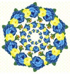 Circlet of flower vector