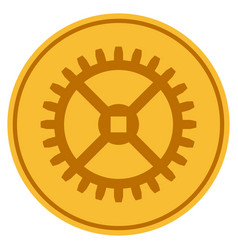 Clock gear gold coin vector