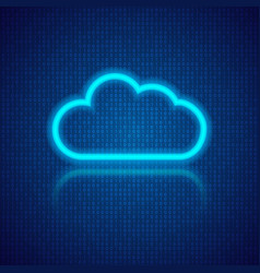 Cloud computing on an abstract digital background vector