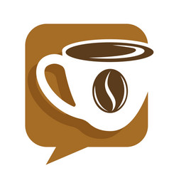 Coffee house hot drink in cup and bean isolated vector