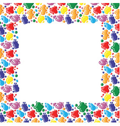Color frame of paints drops and blots vector