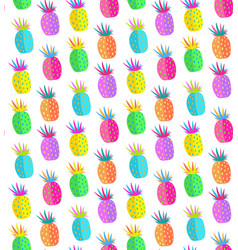 colorful pineapple seamless pattern design vector image
