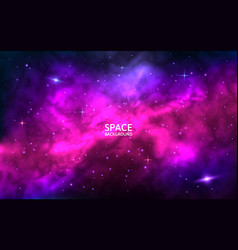 cosmic background space backdrop with bright vector image