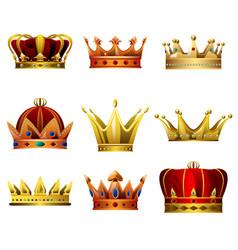 crown designs vector image