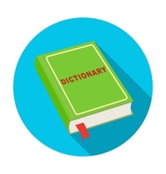 Dictionary icon in flat style isolated on white vector image
