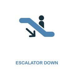 Escalator down icon monochrome style design from vector