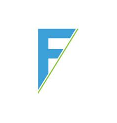 f logo vector image